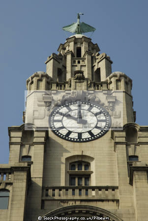 liver bird clock 10 building liverpool north west northwest england english uk scouse birds insurance big 1920s head office merseyside great britain united kingdom british
