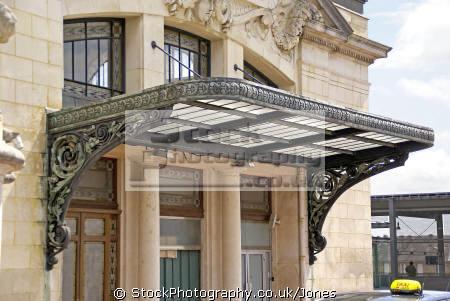 Limoges Benedictins Station Art Deco Detailing In Copper