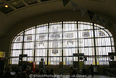 limoges benedictins station art deco stained glass windows french buildings european travel clock tower roger gonthier bénédictins monastery gare railway trains terminus haute-vienne haute vienne hautevienne limousin france la francia frankreich europe