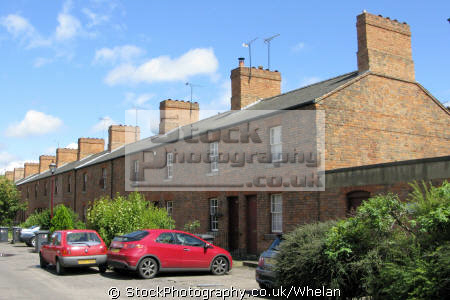 ailway cottages derby uk terraced houses british housing homes dwellings abode architecture architectural buildings derbyshire england english great britain united kingdom