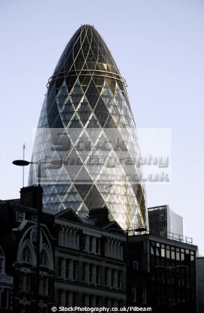 gherkin evening sun city london famous sights capital england english uk building icon landmark cockney great britain united kingdom british