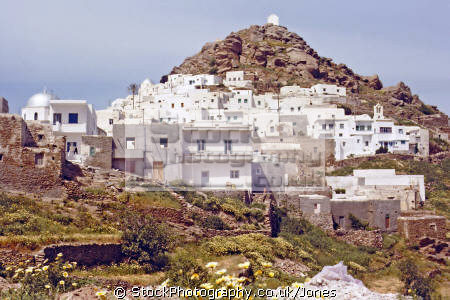 town chora island ios greece greek european travel aegean sea cyclades whitewash adobi europe