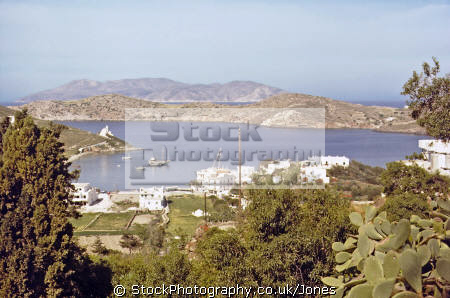 island ios looking harbour greek european travel chora aegean sea cyclades greece whitewash adobi europe