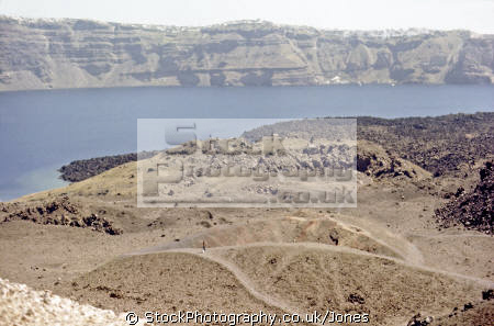 nea kameni near santorini greece volcanic volcanoes geology geological science misc. aegean sea greek cyclades atlantis minoan caldera volcano pumice basalt lava europe european