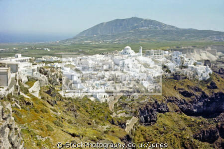 thera island santorini greek european travel aegean sea cyclades atlantis minoan caldera volcano pumice basalt lava nea kameni greece europe