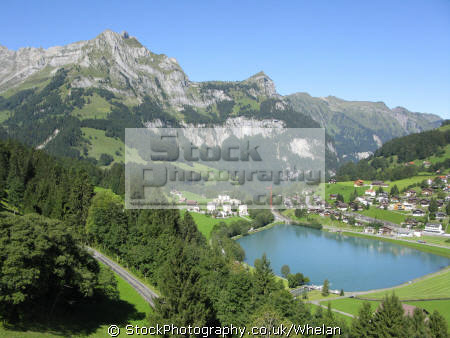 lake near engleberg swiss suisse european travel engleburg alps mountain switzerland schweiz europe