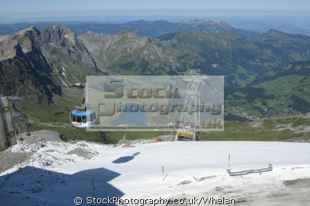 360 degree rotating cable car arrives mount titlis swiss suisse european travel alps mountain panoramic switzerland schweiz europe
