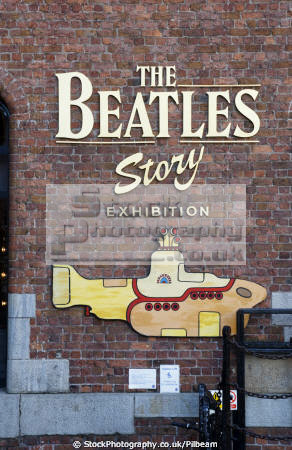 sign outside beatles museum albert dock liverpool uk museums british architecture architectural buildings fab mersey music 60s merseyside scouse england english great britain united kingdom