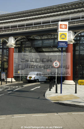 liverpool lime street station taxi entrance uk railway stations railways railroads transport transportation rank cab rail merseyside scouse england english great britain united kingdom british