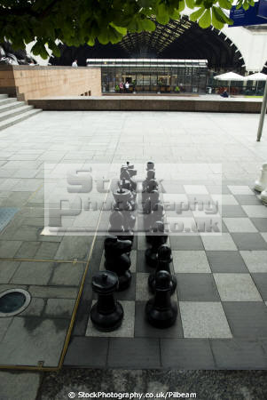 chess pieces bishopsgate district financial sector uk commercial buildings retailers british architecture architectural outdoor set play banker city london cockney england english great britain united kingdom