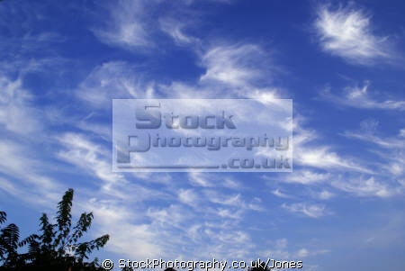 cirrus clouds sky natural history nature misc. ice crystals meteorology weather troposphere correze limousin france la francia frankreich europe european french