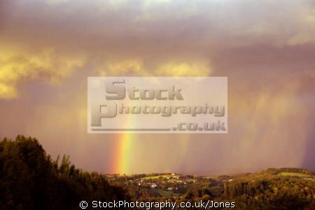 cloudburst near tulle france sky natural history nature weather rainbow troposphere meteorology shower storm rain precipitation cumulus cunim correze limousin la francia frankreich french