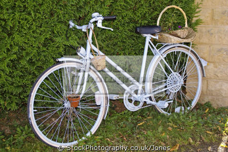 decorative bicycle plant holder bicycles cycling cyclists bikes transport transportation uk humorous humourous humour bike two-wheeler two wheeler twowheeler floral flowers basket correze limousin france la francia frankreich europe european french