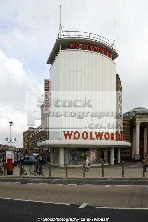 1930s woolworths building centre ilford essex art deco uk commercial buildings retailers british architecture architectural shop shopping woollies store england english great britain united kingdom