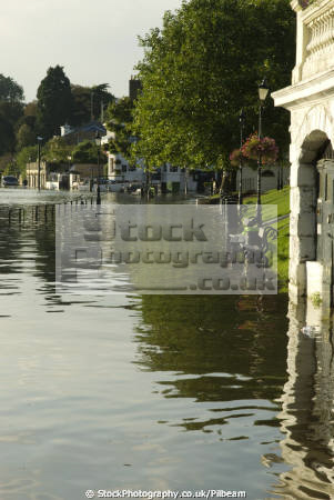 river thames richmond surrey flooding south east towns southeast england english uk tidal flood riverside walk great britain united kingdom british