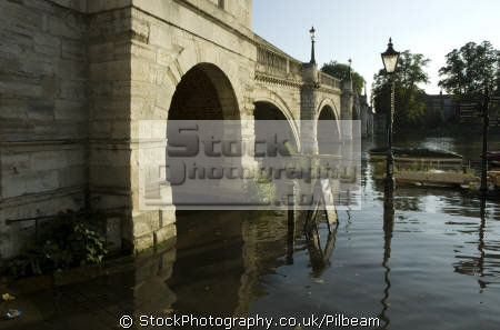 river thames richmond surrey high tide flooding footpath south east towns southeast england english uk tidal flood riverside walk great britain united kingdom british
