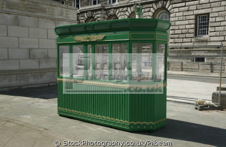 original kiosk used mersey birkenhead tunnel entrance north west northwest england english uk car river liverpool merseyside scouse great britain united kingdom british