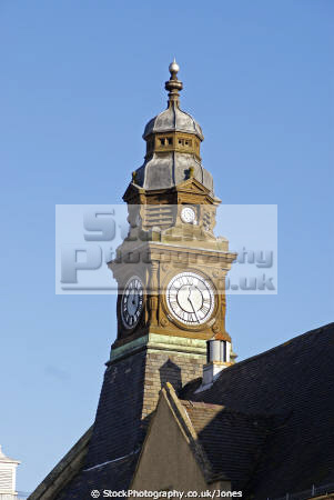 clock tower evesham town hall uk halls government buildings british architecture architectural baroque council chambers worcestershire england english great britain united kingdom
