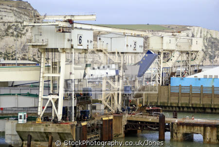 loading ramps dover east docks harbour harbor uk coastline coastal environmental english channel le manche port white cliffs kent england great britain united kingdom british