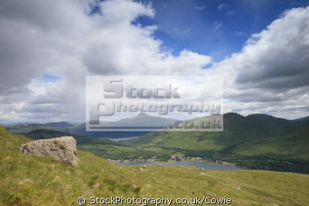 looking arrochar ben lomond cobbler. scotland mountains countryside rural environmental uk argyll. loch long argyll bute argyllshire scottish scotch scots escocia schottland great britain united kingdom british