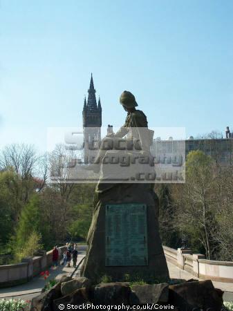 highland light infantary monument. kelvingrove park glasgow.scotland glasgow scotland glasgowscotland uk war memorials military militaries glasgow central scotland scottish scotch scots escocia schottland great britain united kingdom british