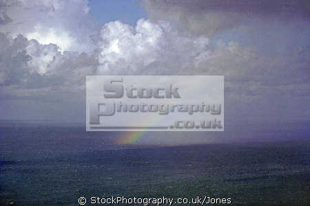 cloudburst bristol channel sky natural history nature misc. rainbow spectrum weather meteorology shower sunshine rain squall devon devonian england english great britain united kingdom british