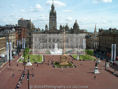 george square city chambers glasgow.scotland glasgow scotland glasgowscotland uk town halls government buildings british architecture architectural glasgow cenotaph central scotland scottish scotch scots escocia schottland great britain united kingdom
