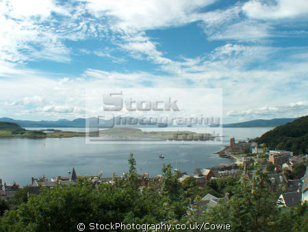 overlooking oban bay sound mull pictured mccaigs tower.scotland tower scotland towerscotland harbour harbor uk coastline coastal environmental argyll bute argyllshire scotland scottish scotch scots escocia schottland great britain united kingdom british