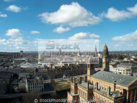 paisleys skyline uk towns environmental steeples paisley renfrewshire scotland scottish scotch scots escocia schottland great britain united kingdom british