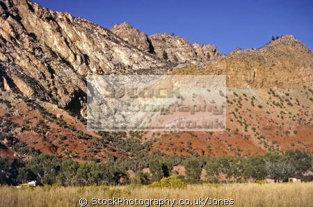 sheep creek canyon near flaming gorge utah geology geological science misc. red iron ore jurassic cliffs mountains triassic usa united states america american