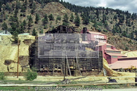 argo goldmine idaho springs colorado. taken september 1979. american yankee travel rockies rocky mountains geology mineral crushing silver pyrites quartz extracting colorado usa united states america