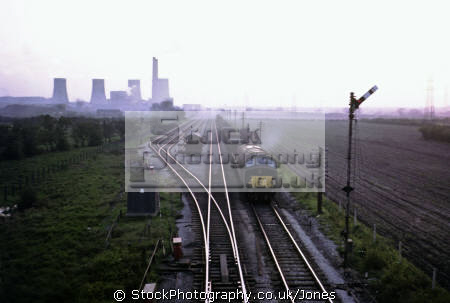 castle donington power station sixties energy electrical science misc. diesel locomotive goods railway train engine coal fired industrial derbyshire england english great britain united kingdom british