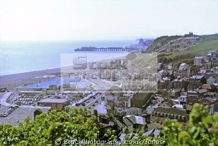 hastings east hill seafront uk coastline coastal environmental seaside beach sussex holiday resort pier home counties england english great britain united kingdom british