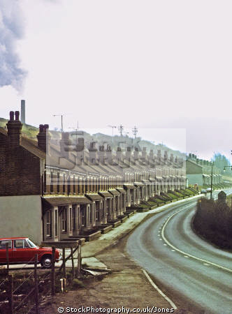 row terraced houses dacre gardens shoreham taken 1972. uk industrial buildings british architecture architectural cement factory victorian west sussex home counties england english great britain united kingdom