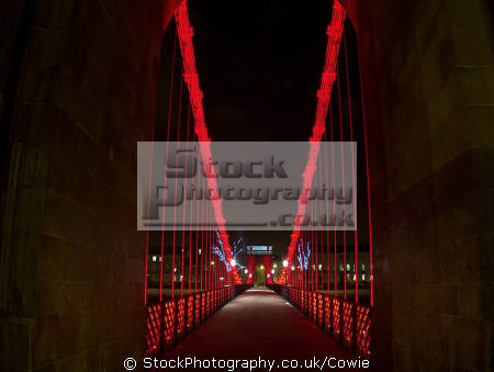 south portland street suspension bridge uk bridges rivers waterways countryside rural environmental glasgow central scotland scottish scotch scots escocia schottland great britain united kingdom british