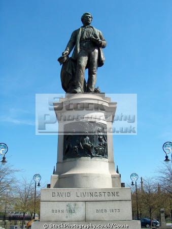 david linvingstone statue. glasgow. scotland uk statues british architecture architectural buildings statue glasgow central scottish scotch scots escocia schottland great britain united kingdom