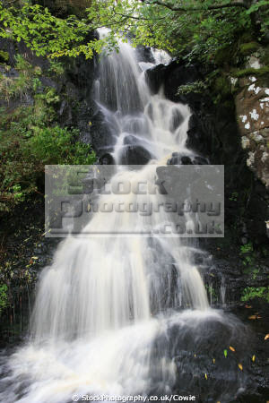 waterfall dunvegan castle gardens isle skye. scotland uk parks environmental skye eilean sgitheanach highlands islands scottish scotch scots escocia schottland great britain united kingdom british