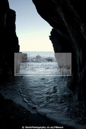 lynague caves west coast isle man british beaches coastal coastline shoreline uk environmental cave sea surf rocks manx england english great britain united kingdom