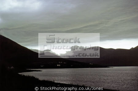 isle skye lowering skies loch sligachan. scottish lochs british lakes countryside rural environmental uk gloomy meteorology weather scotland glen mountains eilean sgitheanach highlands islands scotch scots escocia schottland great britain united kingdom