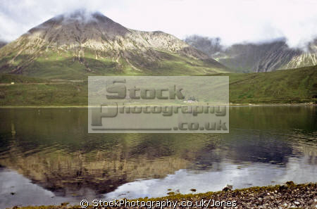 isle skye loch ainort distant hills glamaig. scottish lochs british lakes countryside rural environmental uk a87 scotland reflection eilean sgitheanach highlands islands scotch scots escocia schottland great britain united kingdom