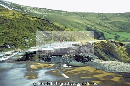 road beneath mam tor near castleton derbyshire lost subsidence. geology geological science misc. pennines peak district national park shimmering mountain landslip england english great britain united kingdom british