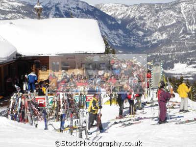 skiers austrian alps alpine osterreich european travel