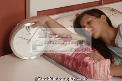 asleep alarm clock people sleeping dreaming human activities persons