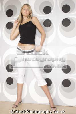 blonde swinging sixties style women woman female females feminine womanlike womanly womanish effeminate ladylike people persons