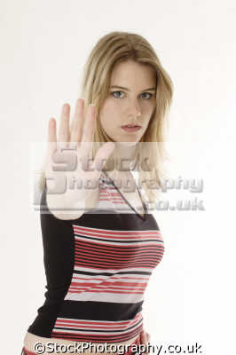 stop stay away hand gestures non-verbal non verbal nonverbal communication body language people persons desist halt