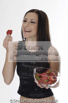 eating strawberries people mastication nutrition ingestion digestion meals food human activities persons bowl