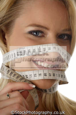 measure face dieting slimming fat health fitness people persons