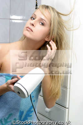 woman drying hair dryer makeup cosmetics make-up make up makeup fashion haute couture chic designer people persons