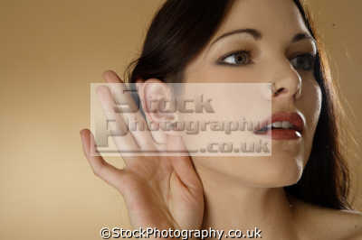 listening hand gestures non-verbal non verbal nonverbal communication body language people persons cupped ear hearing