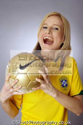 brasilian football shirt young women woman female females feminine womanlike womanly womanish effeminate ladylike people persons brazil